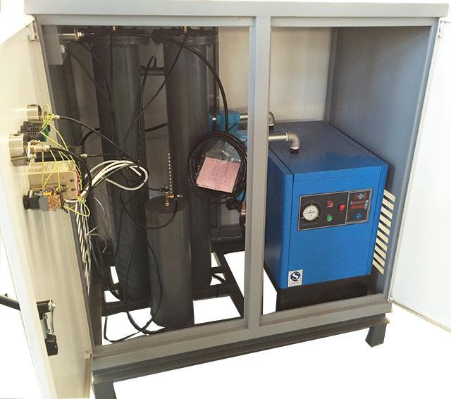 Powder Storage 99.99% PSA Nitrogen Generator , Nitrogen Output 2Nm3/h 1
