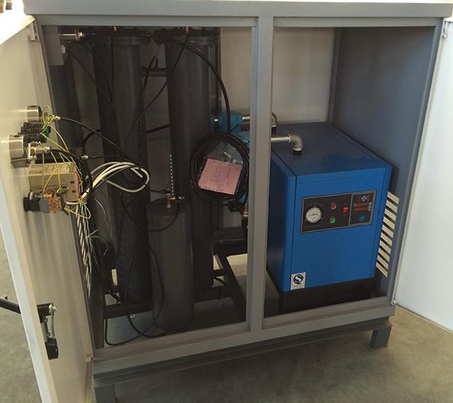 White PSA Nitrogen Generator , 5 Cube Meters Per Hour Nitrogen Output 2